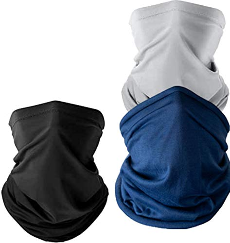 QE Neck Gaiter Big & Tall Large Fit for Large Head & Neck Size 3 Pack