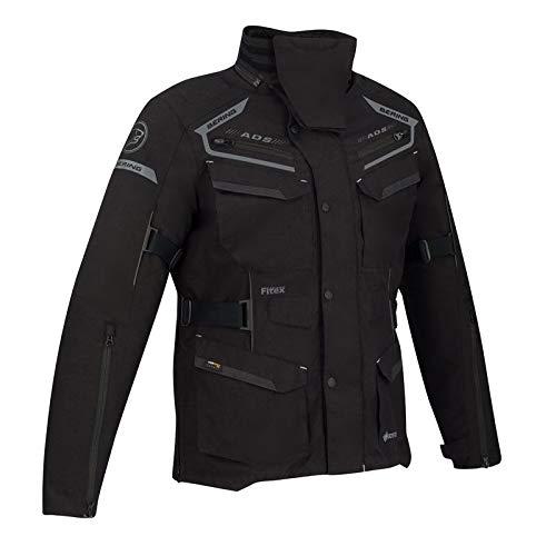 BERING Minsk - Chaqueta para moto, color negro y gris, talla 4XL