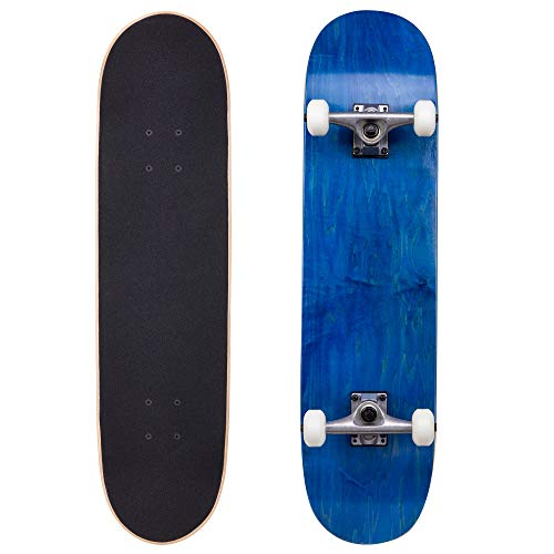 Cal 7 Complete Skateboard, Popsicle Style with 5.25 Inch Trucks & 100A Wheels for Kids & Adults (8' Fierce)