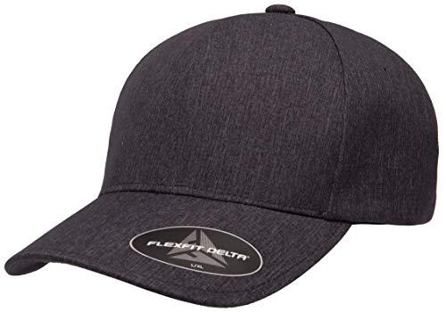 Flexfit Men's Delta Seamless Carbon Cap, Melange Charcoal, L/X-Large