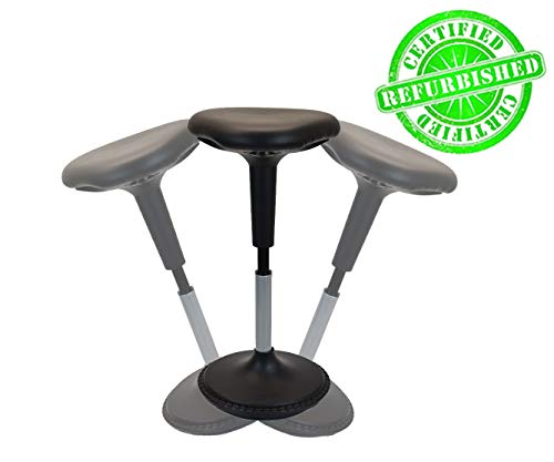 Wobble Stool standing desk chair for active sitting modern sit stand up desk stools high perching perch office chairs tall swivel leaning ergonomic computer balance (Renewed)