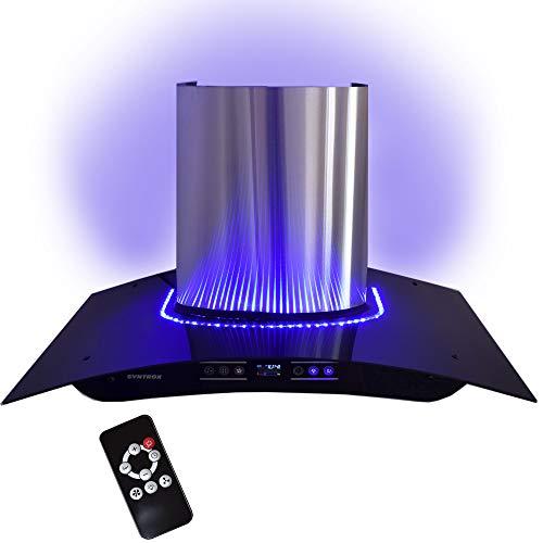 Dunstabzugshaube 90 cm mit Blauen LED, Touch Screen und Fernbedienung
