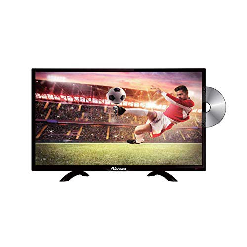 Norcent 24 Inch 720P LED HD Backlight Flat DVD Combo TV, VGA USB HDMI Digital TV Tuner Cable, Build-in DVD Player Dual Channel 3W Speakers Monitor Television