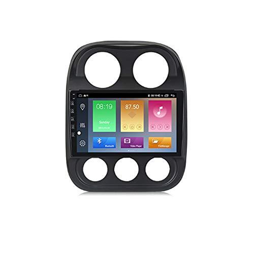 YLCCC Unidad de Cabeza de navegación GPS de Coche Adecuado para Jeep Compass 2009-2015 Coche Estéreo Sat Nav Capacitivo Touch HD Carplay Sistema de Radio Incorporado Tracker,8Core 4G+WiFi:2+32G