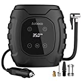 Aoboco HD Touch Screen Tyre Inflator, 12V Portable Digital Air Compressor Tyre Pump