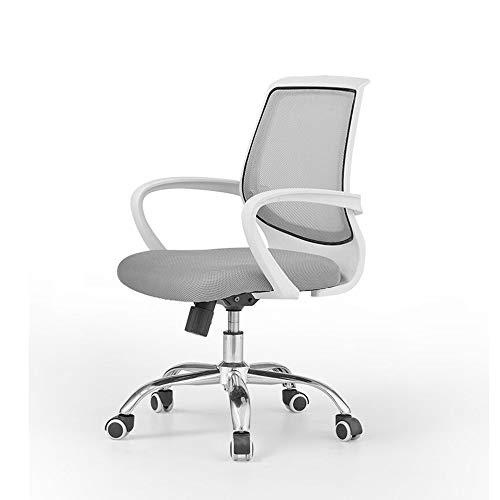 HOLPPO-Desk Stuhl Home Office Chair Studentenwohnheim Lernen Stuhl Breathable Ineinander greifen-Büro Lounge Chair Höhenverstellbarer Bearing Gewicht 120kg Schreibtisch Stühle (Color : White)