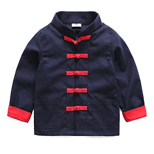 Mud Kingdom Toddler Boy Dress Coats Chinese Costume Tang 2T Navy Blue