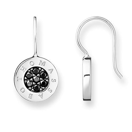 Thomas Sabo Damen-Ohrringe Glam & Soul 925 Sterling Silber mit schwarzen Zirkonia Steinen H1862-643-11