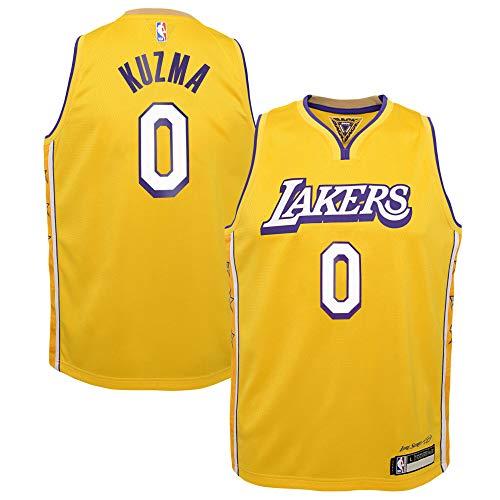 Kyle Kuzma Los Angeles Lakers #0 Youth 8-20 Yellow City Edition Swingman Jersey (8)