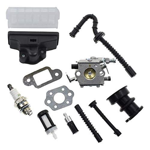 UGUTER Go Kart Carburetor Kit de Filtro de Aire de carburador para 021 023 025 MS210 MS230 MS250 250 MADRADOS MADUSOW 1123 120 0605, 1123 160 1650 Carburador 125cc (Color : Silver)