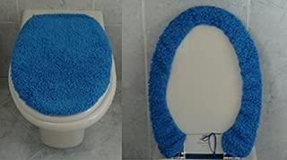 JFSEETYQzg Set di Toletta in Tre Elementi del Sedile del Toilette del Gabinetto Set Ignifugo dello Stile della Chiusura Lampo Tessuto dellEstate del Cuscino della Toletta,4