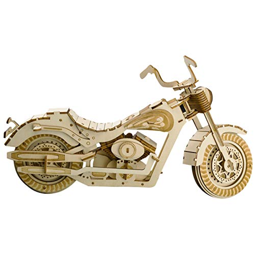 XLQ 3D Puzzles - Wooden Harley Moto Toys,DIY Assembly Model Kits for Adults And Kids (158 Piece)