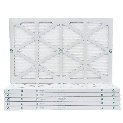 16x25x1 MERV 10 AC & Furnace Air Filters. Case of 12. Actual Size: 15-1/2 x 24-1/2 x 7/8