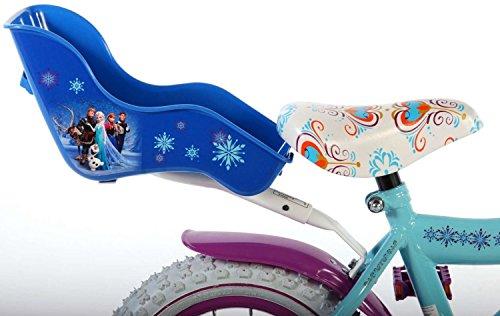Disney Kinder Fahrrad Puppensitz Frozen die Eiskönigin Mädchen Puppen Sitz blau