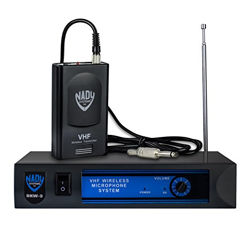 Nady Wireless Microphone System, Black, Single Transmitter/VHF (DKW-3-GT-AMZ)
