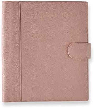 Levenger Blush Carrie Softolio Luxury Leather Business Portfolio Discbound Notebook and Notepad product image