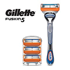 Gillette razors for men with 5 anti-friction blades. A shave you barely feel Men's razor with Precision Trimmer on back-great for hard-to-reach areas and styling facial hair Shaving razor with Lubrication Strip that fades when you are no longer getti...