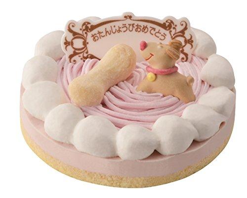 ワンちゃん用 記念日 誕生日ケーキ ストロベリー (プレート付)