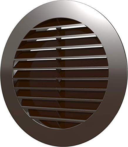 Vent Cover - Round Soffit Vent - Air Vent Louver - Grille Cover HVAC Ventilation - Plastic with Larger Outer Diameter (6'' Inch, Brown)