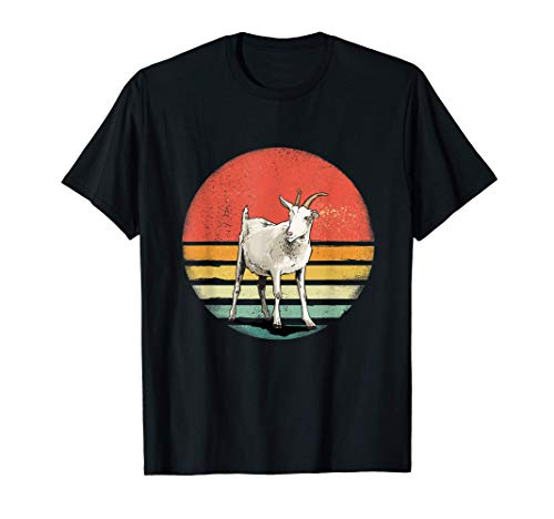 Cute Goat Retro Vintage Style - Goat Gifts For Goat Lovers Camiseta