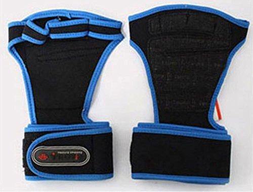 TROVIS フィットネスグローブ筋トレ ウェイトリフティング グローブ ジムトレーニングダンベル バーベル トレ手首保護 握力アシストに (BLACK, L)