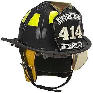 Cairns 1010 Black Traditional Fiberglass Helmet, NFPA, OSHA - 1010C Standard, Defender, Black