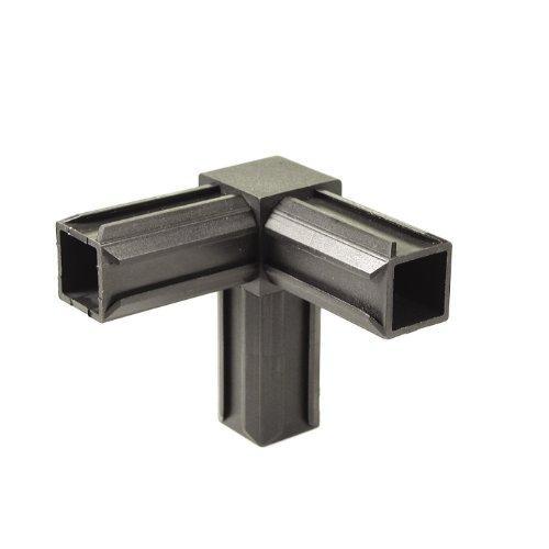GAH-Alberts 426347 XD-Rohrverbinder | 90° und einem weiteren rechtwinkeligen Abgang | Kunststoff, schwarz | 20 x 20 x 1,5 mm | 10er Set
