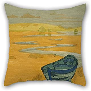 20 X 20 Inches / 50 by 50 cm Oil Painting Arthur Wesley Dow - The Derelict (The Lost Boat) Throw Pillow Covers Two Sides is Fit for Floor Study Room Pub Indoor Gril Friend Girls