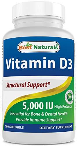Best Naturals Vitamin D3 5000 IU 360 Softgels