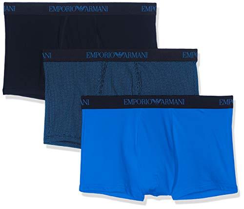 Emporio Armani Underwear, Herren Unterhosen 3er Pack,Blau (ONDA ST/Marine 25933), Large