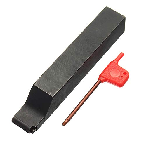 YASE-king Lathe Turning Tool Kit, SRAPR/SRAPL 2020K08 Externe CNC-Drehmaschine Werkzeughalter + Schlüssel for Hartmetalleinsatz