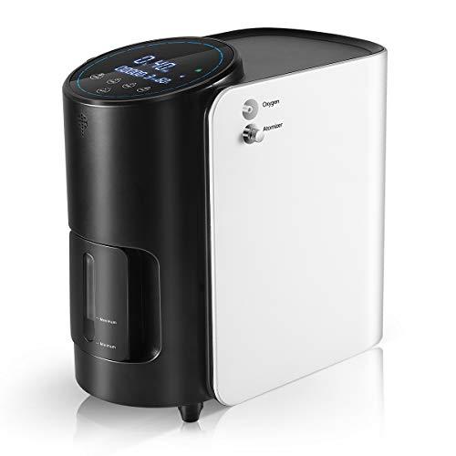 S SMAUTOP Concentrador de Oxígeno 1-7L / min 90% ± 3 Ajustable Generador de O2 para Ancianos Máquina Portátil de Oxígeno para Embarazadas Ruido