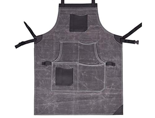 Vero Nord Leather Waxed Canvas Apron 4