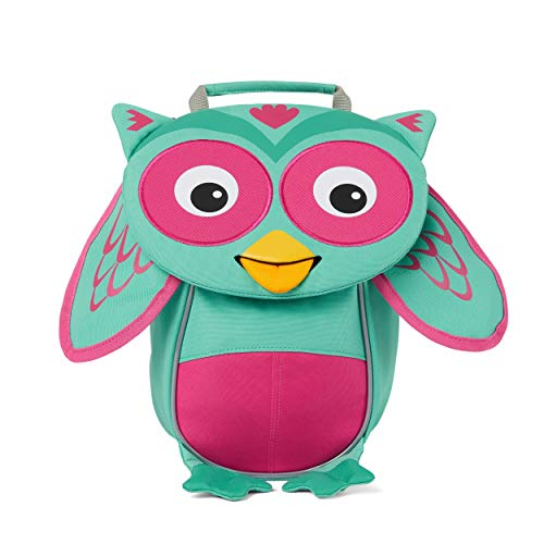 Affenzahn Little Friend - Nursery Backpack for 1-3 Years Old Children in Nursery and Children's Backpack for Nursery - Owl - Turquoise