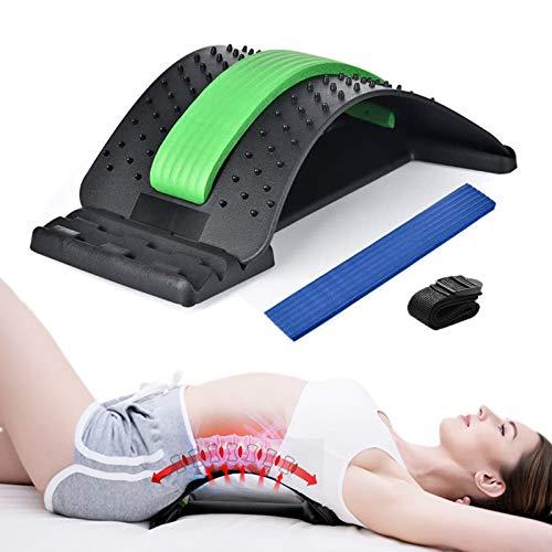 GuangZhou Rückenstrecker, Rückendehner Rückenmassagegerät Back Stretcher 3 Stufen Einstellbar Rückentrainer mit Farbbox und Befestigungsgurten zur Haltungskorrektur und Schmerzlinderung