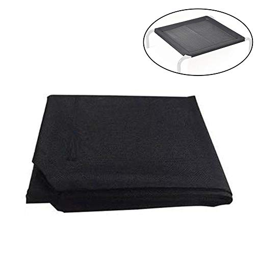 Pet Cot Replacement Cover, Mesh Fabric Cooling Elevated Dog Bed Replacement Cover Cushion,Portable Raised Breathable Pet Cot Bed Mat Best for Puppy, Cat Indoor - Outdoor Use