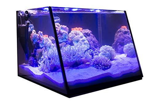 Lifegard Full-View 7 Gallon Aquarium with Built-in Back Filter - Empty - No Accessories