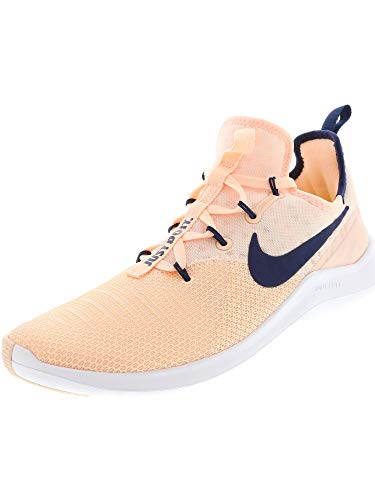 Nike Women's Free TR 8 Crimson Tint/Navy White Ankle-High Fabric Training Shoes - 6.5M