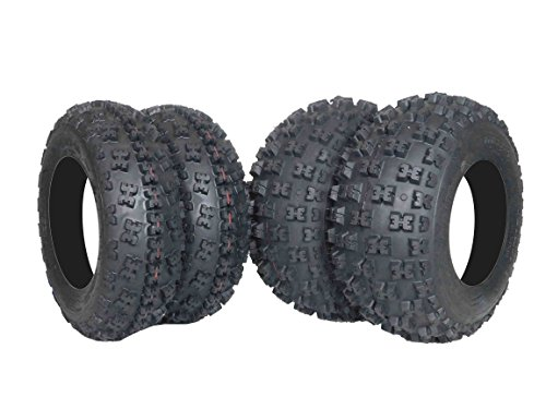 New MASSFX ATV Sport Quad Tires 21X7-10 20X10-9 6 Ply Dual Compound Front Rear For Yamaha Raptor Banshee Honda 400ex 450r 660 700 400 450 350 250 (Four Pack two Front 21x7-10 and Two Rear20x10-9 6)