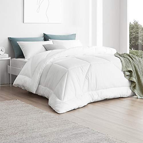 QUILT Weiß Gesteppte Bettdecke Insert - hypoallergen All-Season Decke mit Ecklappen, hypoallergen - Plüsch-Mikrofaser Fill (Größe : 200 * 230cm)