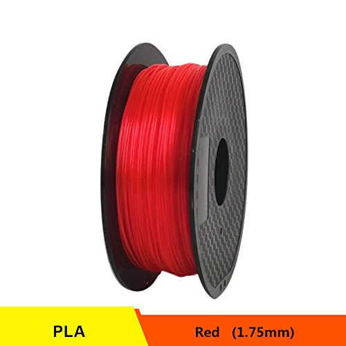 RONGT PETG T transparant glas 3D-printer Filament Zuur-Alcaline Bestand 1,75 mm 1 kg spoel Kunststof Materiaal Uitstekende Dikte (Rood)