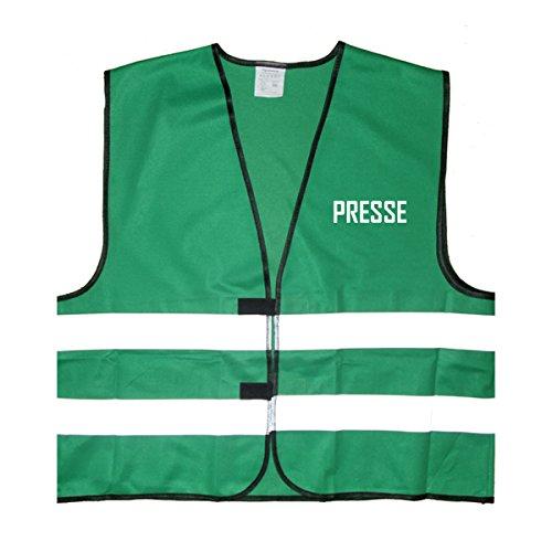 Presse Warnweste - Einheitsgröße bis XXL, Grün