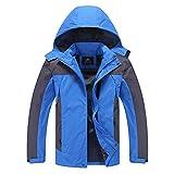 Hombres Chaqueta al aire libre, resorte impermeable a prueba de viento otoño abrigo deportivo casual parka transpirable hardshell chaquetas de viento chaqueta de viento ( Color : Blue , Size : 4XL )