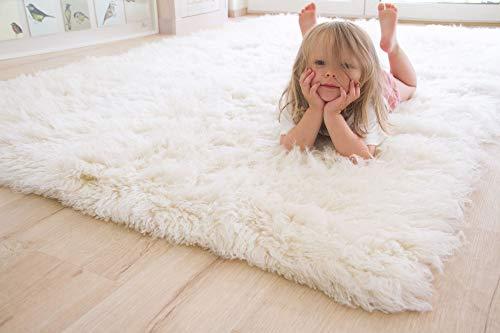 Steffensmeier Flokati 2000 Teppich original griechischer Hirtenteppich Hochflor 100% Neuseeland Schurwolle, Größe: 160x230 cm