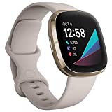 Colour - White/Gold Use for Heart Health, Stress Management and Skin Temperature Trends It Assess your heart for atrial fibrillation (Afib) with a compatible ECG app right on your wrist