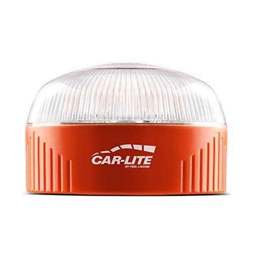 CAR-LITE - Baliza V-16 Luz de preseñalización emergencia homologada DGT con linterna