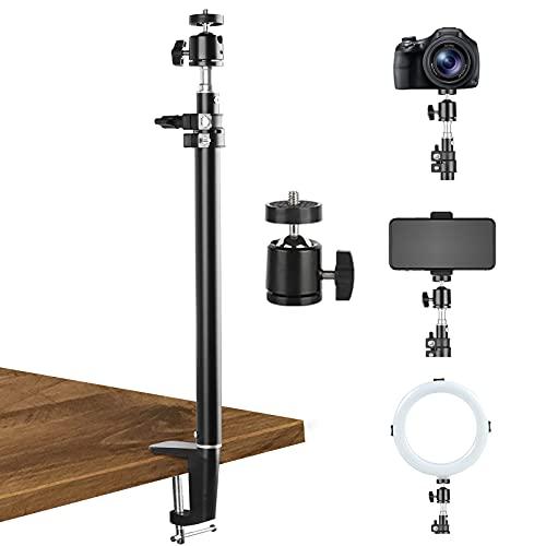 BLAZOR Handy Stativ, Kamera Stativ Für dlsr/Beamer/Webcam, Flexibel Extendable Selfie Stick Stativ Mit Extra 360°kugelkopf, Smartphone Stativ, Tischstativ Kamera
