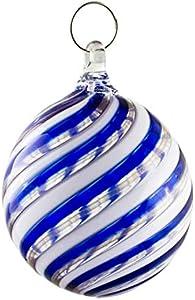 Bola de Navidad Azul Bolas de Cristal de Murano de Colores Ideal para Colgar y para Regalar