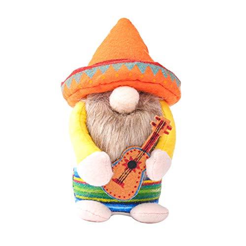 OOTD Carnaval Pascua GNOME, Guitarrista Hecho a Mano GNOME Festival de Felpa gnomo Sueco Tomte con Guitarrista Lindo Peluche Decoración Decoración Elf Decoración Inicio Decoración sin Rostro Muñeca