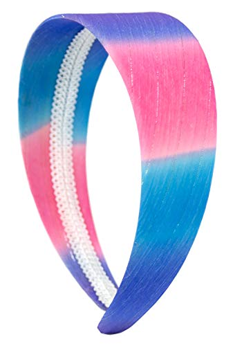 Serre-tête pour femme et fille - Style rétro - Élastique - 80 fleurs vintage - Bleu rose turquoise